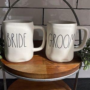 Rae Dunn BRIDE and GROOM Mugs *SET*